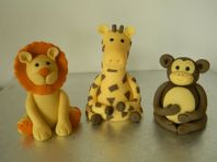 Jungle Animals Lion, Monkey & Giraffe Cake Toppers
